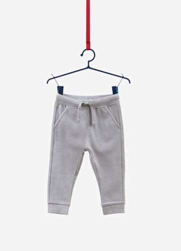 Cotton and viscose trousers with drawstring