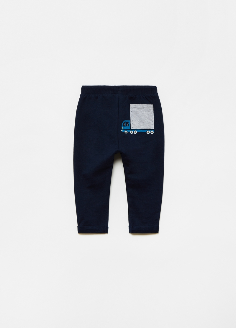 100% organic cotton joggers with lorry print image number null