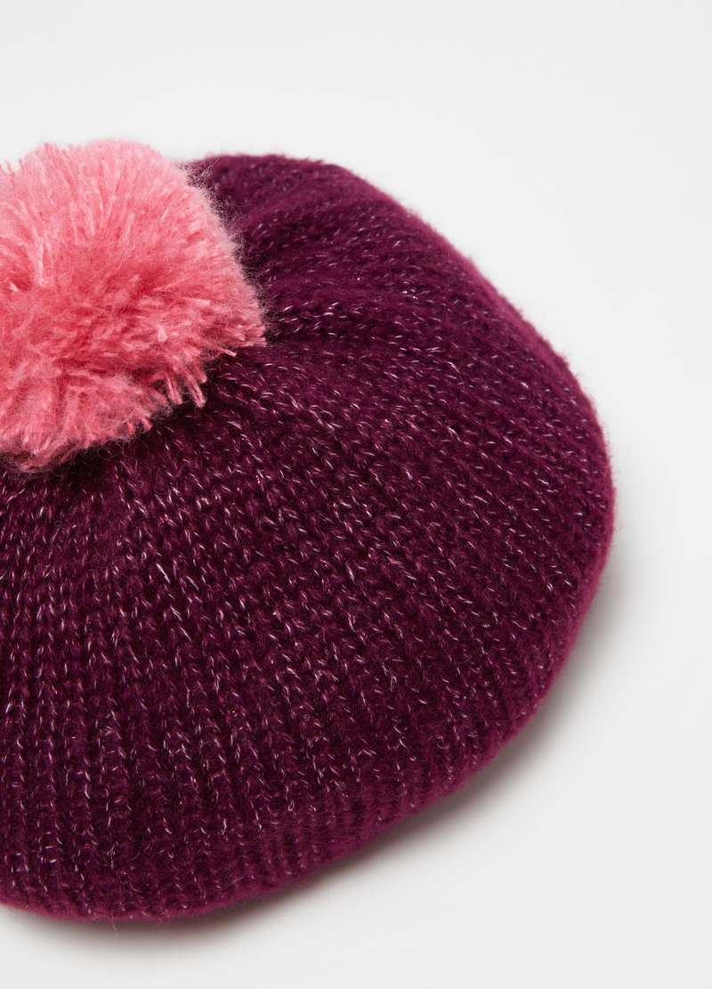 Hat with knitted lurex image number null