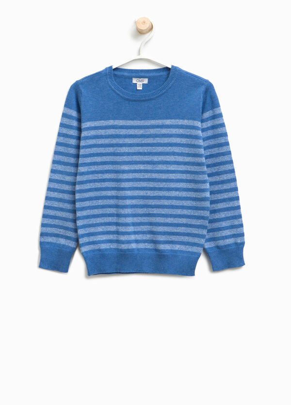 100% cotton striped pullover | OVS