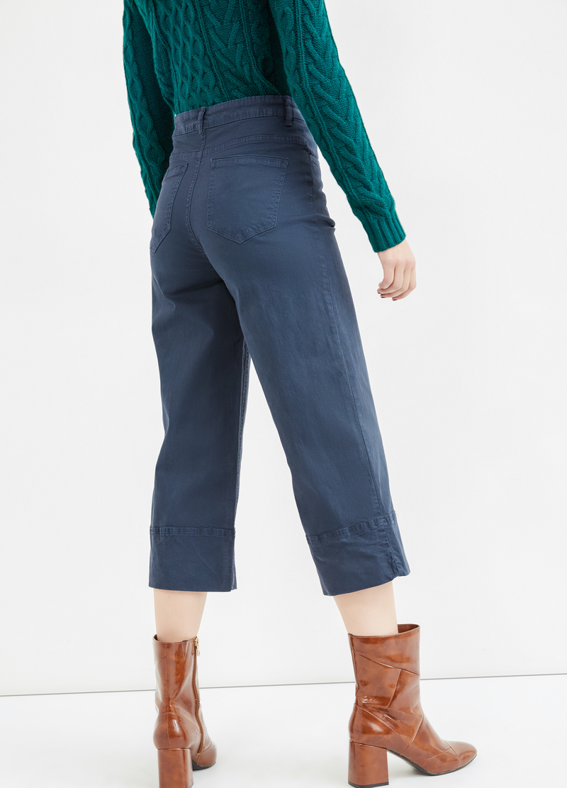 High-waisted stretch cropped trousers image number null