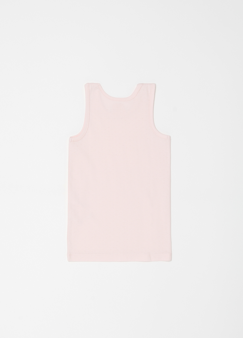 100% organic cotton vest with bow image number null
