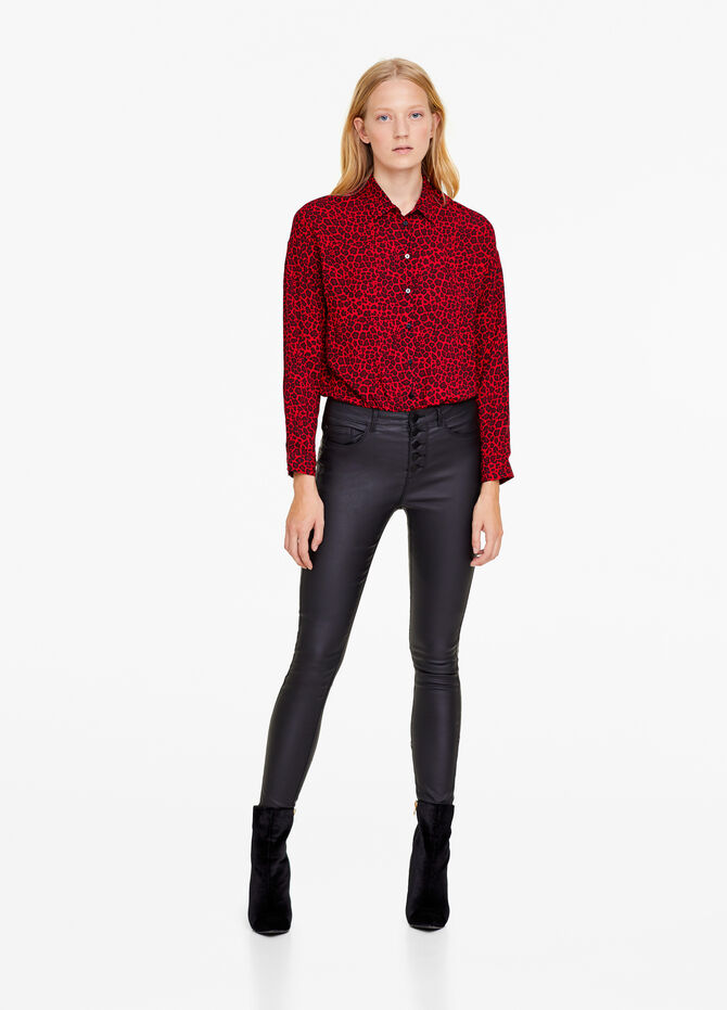 Jeans skinny fit stretch effetto pelle
