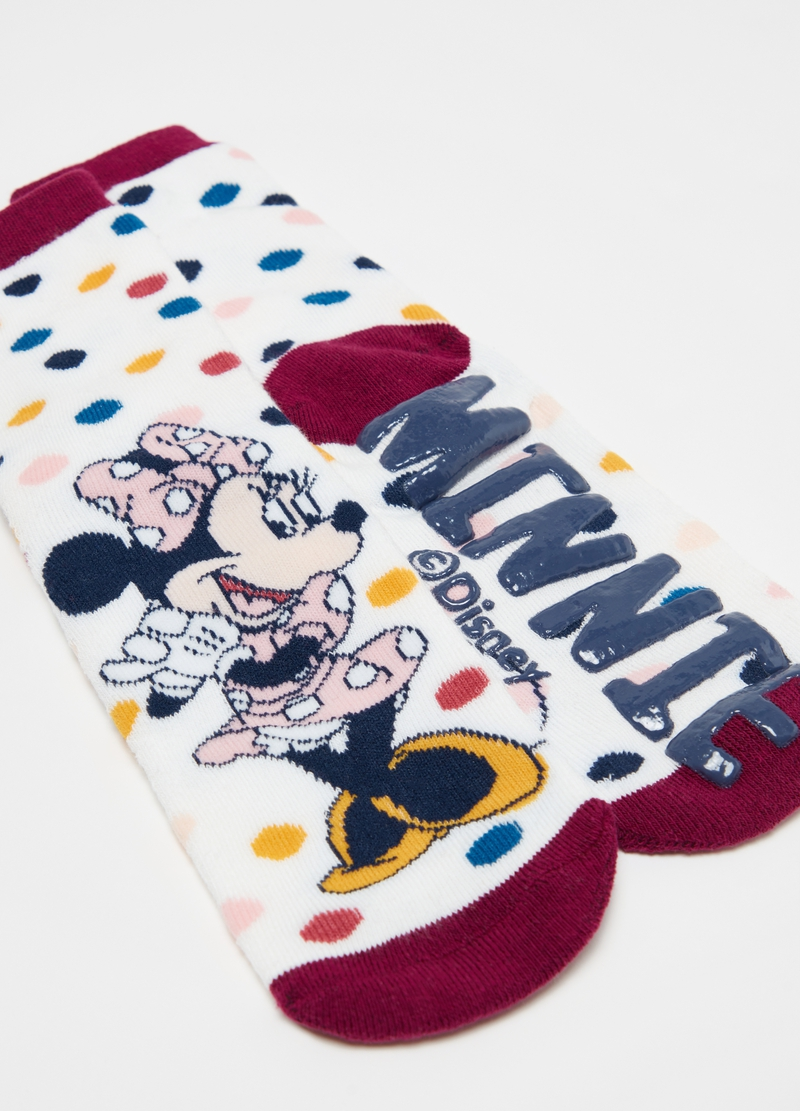 Calze antiscivolo a pois Disney Minnie image number null