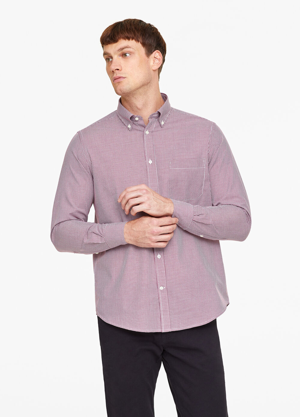 Regular-fit formal patterned shirt