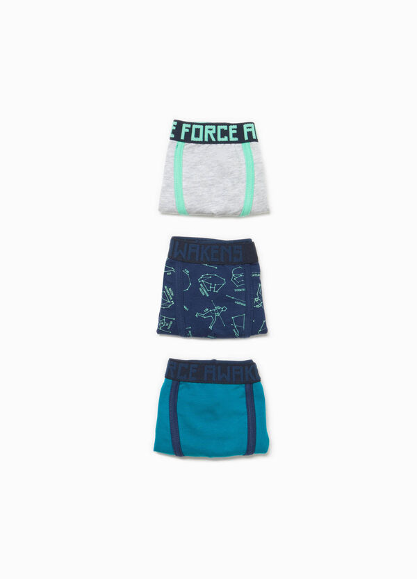 Three-pack stretch cotton boxer shorts with lettering | OVS