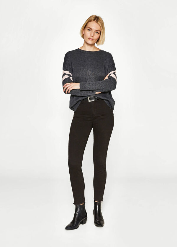 Cotton pullover with inserts | OVS
