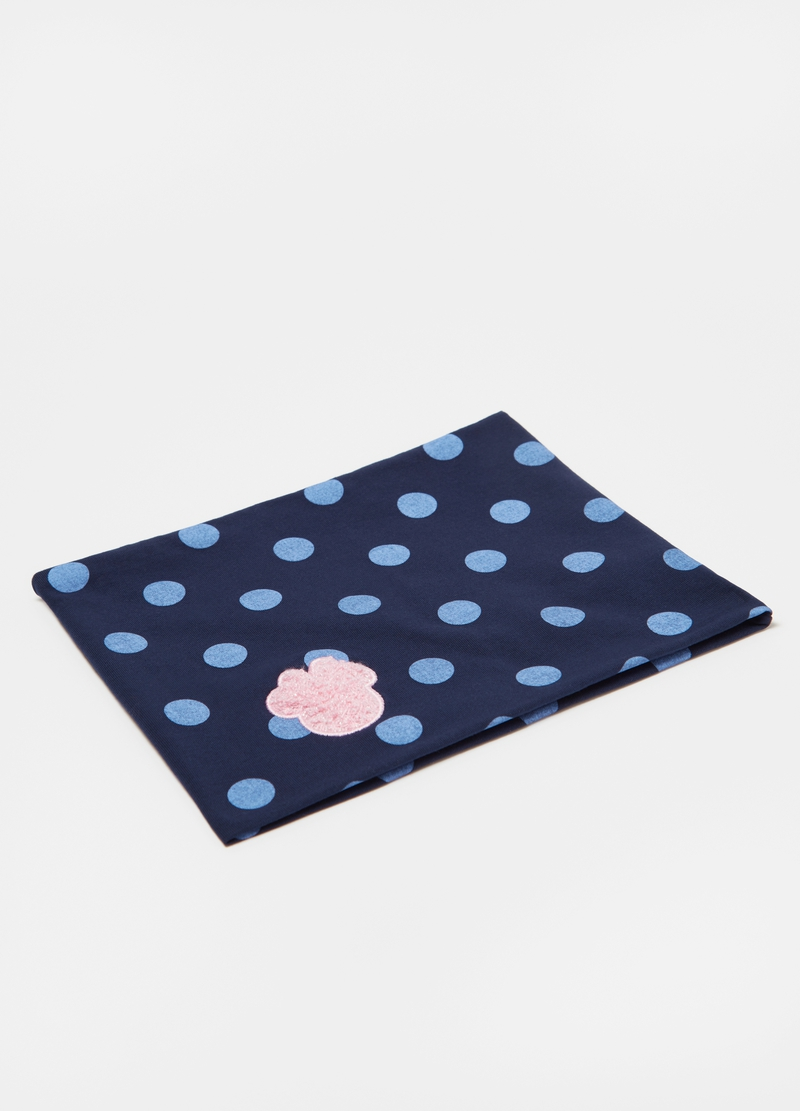 Polka dot neck warmer with Disney Minnie Mouse patch image number null