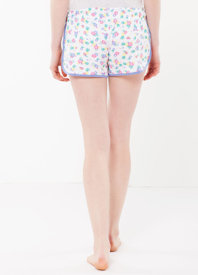 Floral sleep shorts with vent