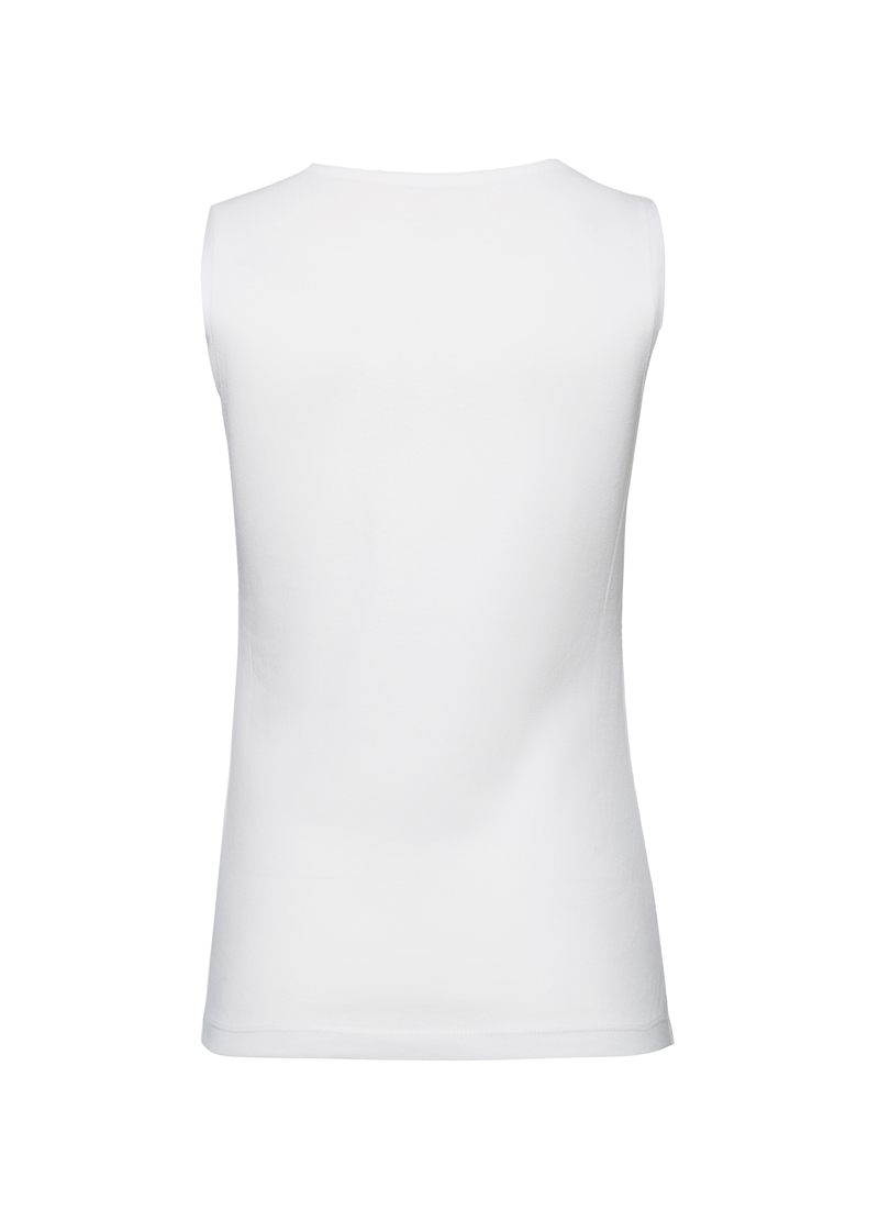 Smart Basic 100% cotton vest with trim image number null