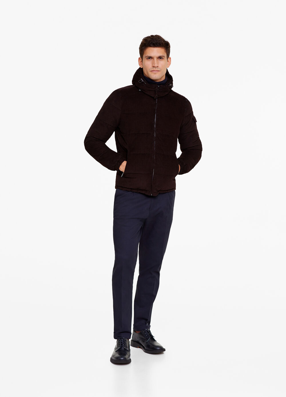 Rumford down jacket with zip