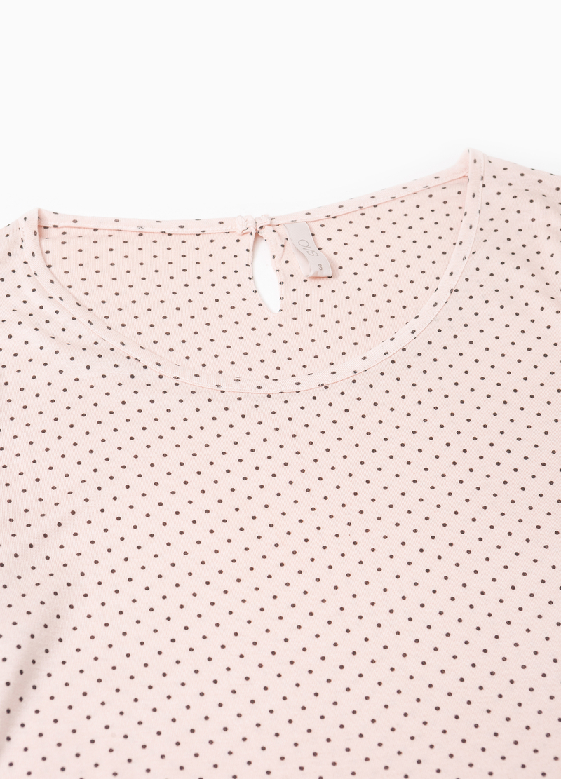 Lace pyjama top with polka dots image number null