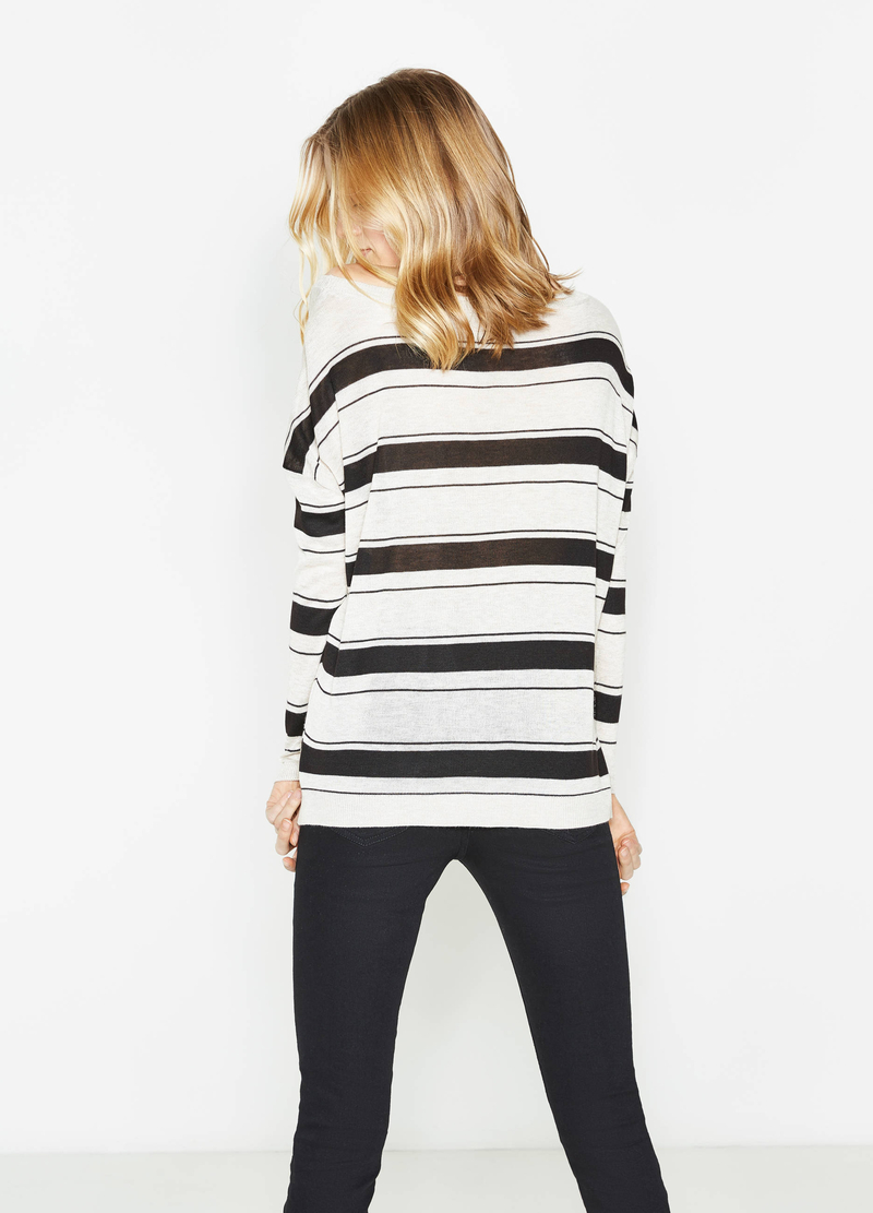Striped pullover with small pocket image number null