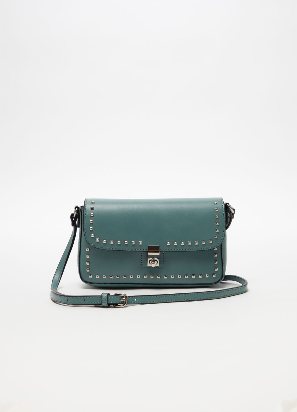 Leather-look shoulder bag with studs