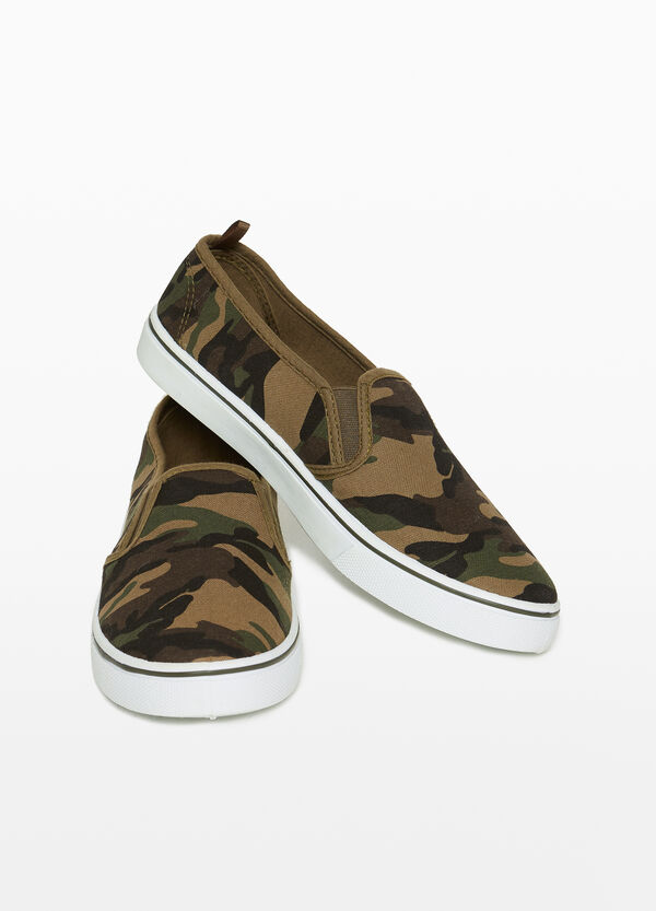 Slip-on with camouflage upper