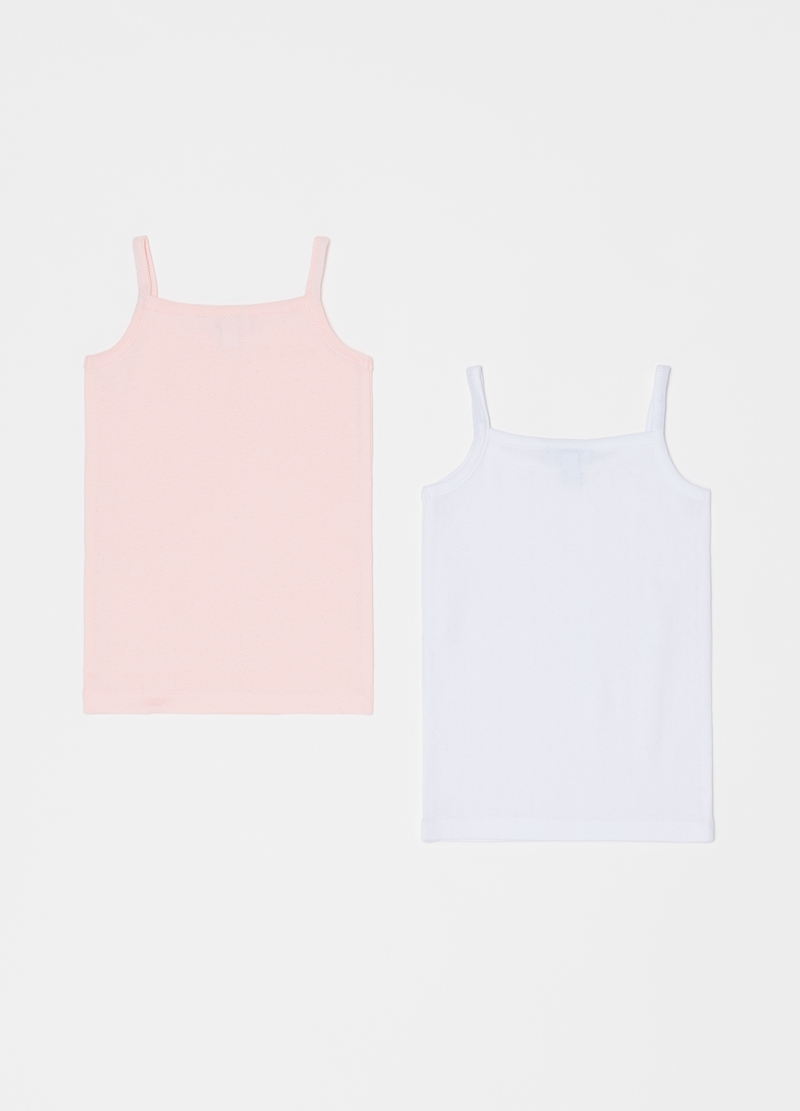 Two-pack vests in 100% cotton image number null