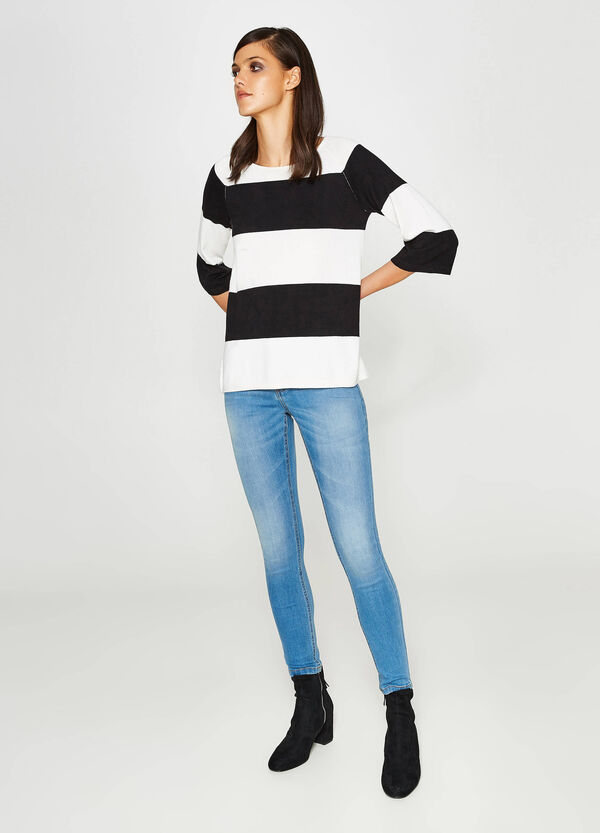 Washed-effect, skinny-fit stretch jeans