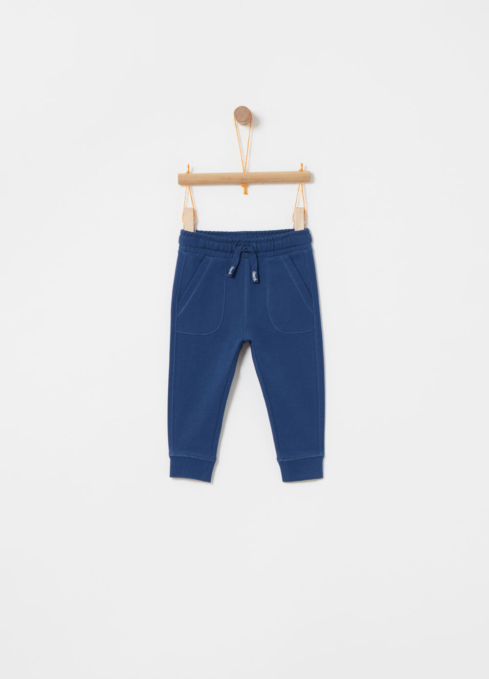 French terry trousers with drawstring