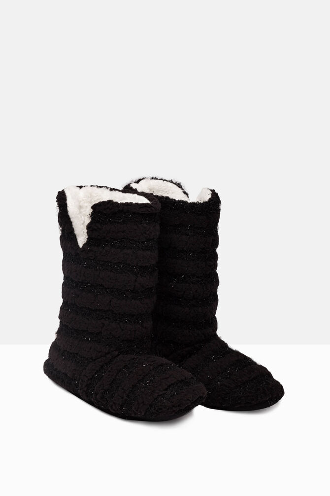Solid colour slipper boots