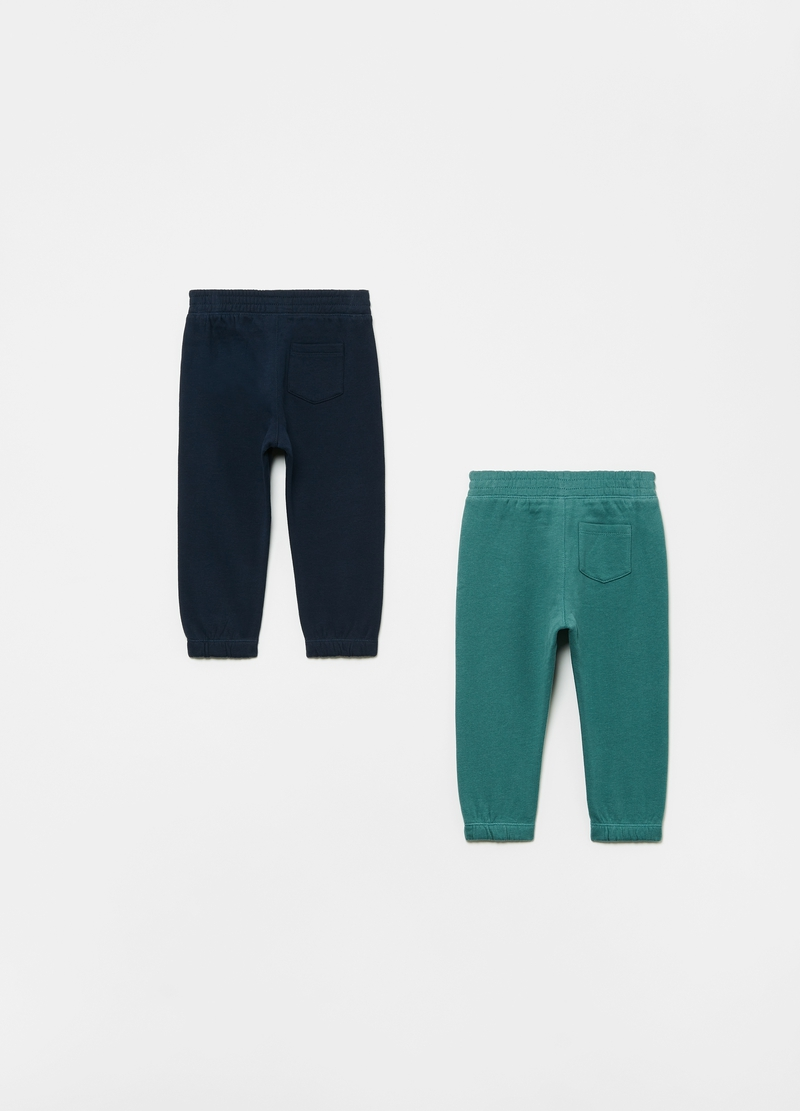 Two-pack 100% cotton joggers with pocket image number null