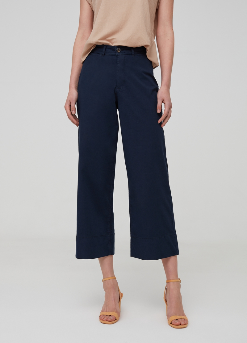 Pantaloni culotte in cotone stretch image number null