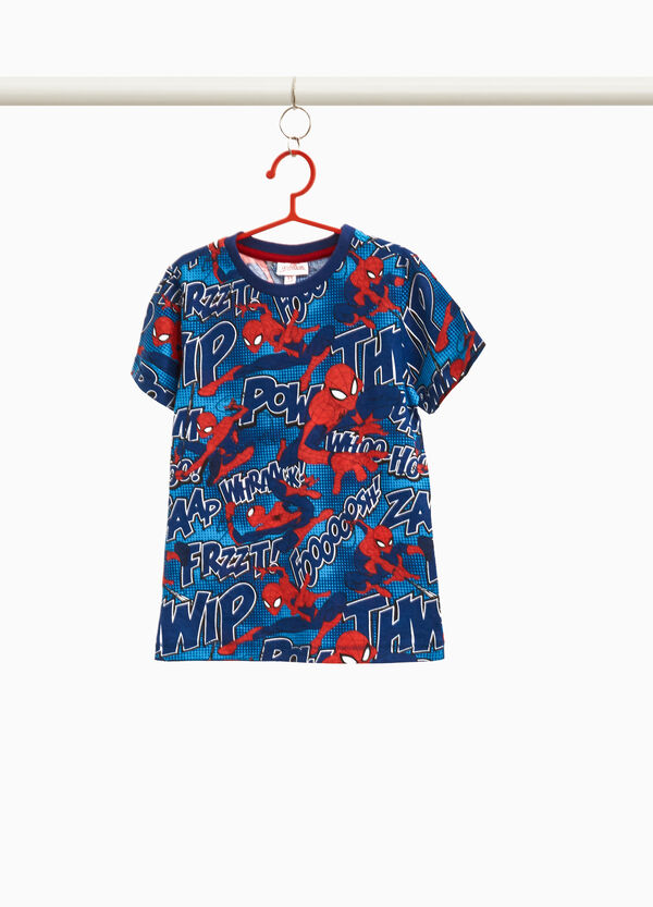 T-shirt puro cotone fantasia Spiderman