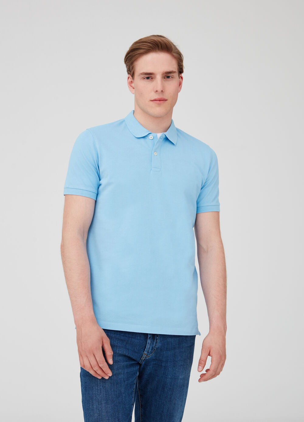 Solid colour soft cotton polo shirt