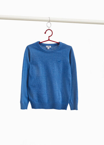 Embroidered pullover in 100% cotton