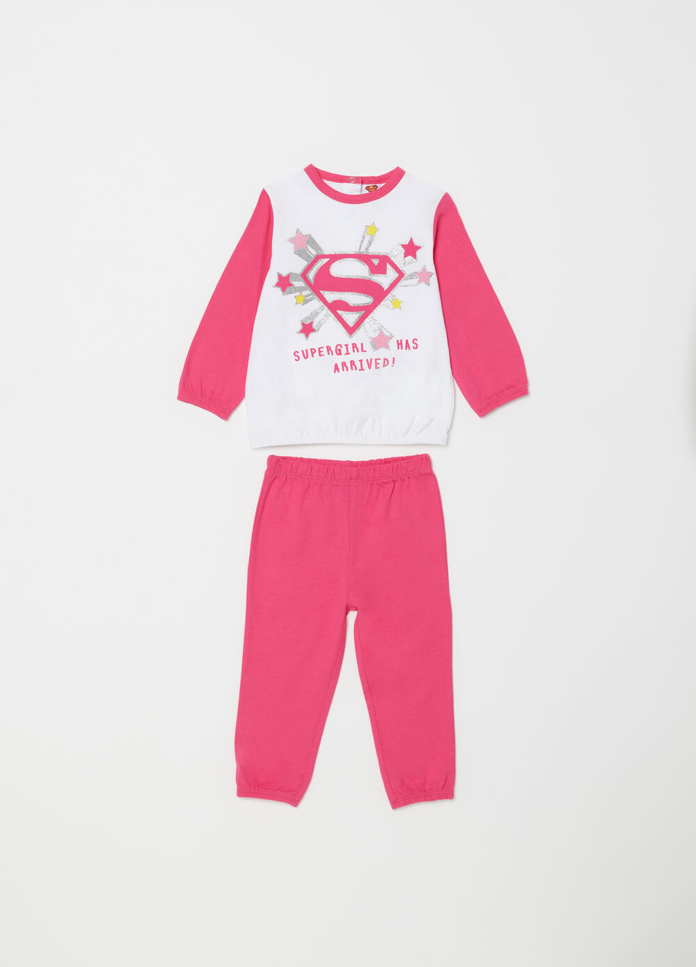 100% cotton pyjamas with glitter Superman