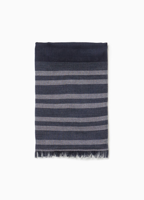 Pashmina with striped pattern