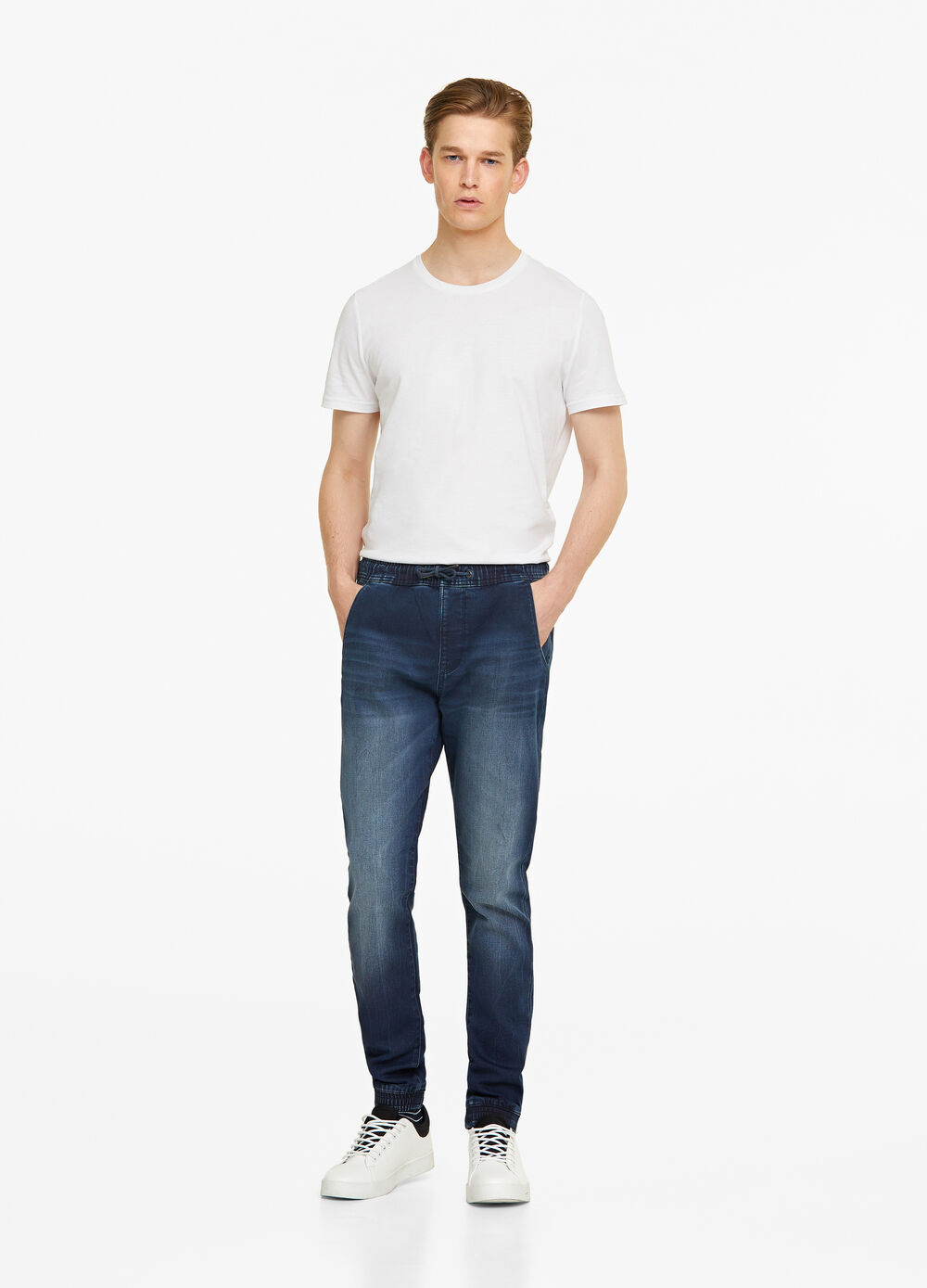 Jeans jogger fit stretch coulisse