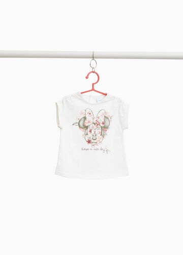Cotton slub T-shirt with Minnie Mouse print