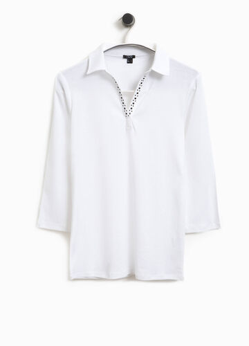 Smart Basic cotton polo shirt with studs