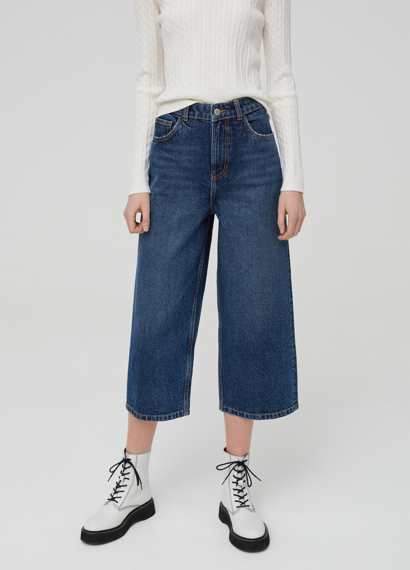 Culotte jeans with five pockets image number null