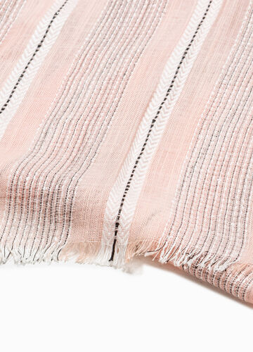 Striped scarf with lurex