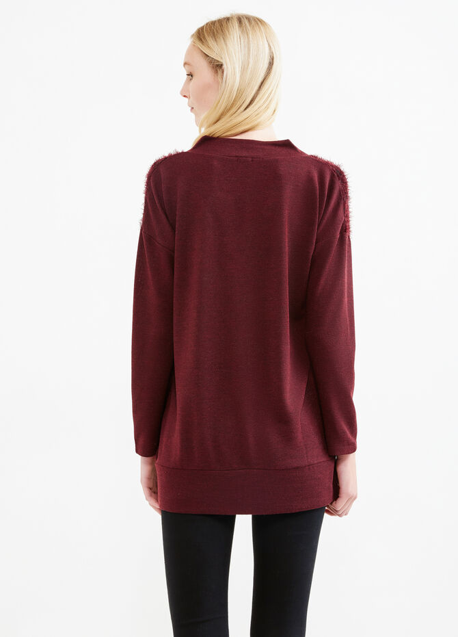 Shaggy patterned stretch T-shirt