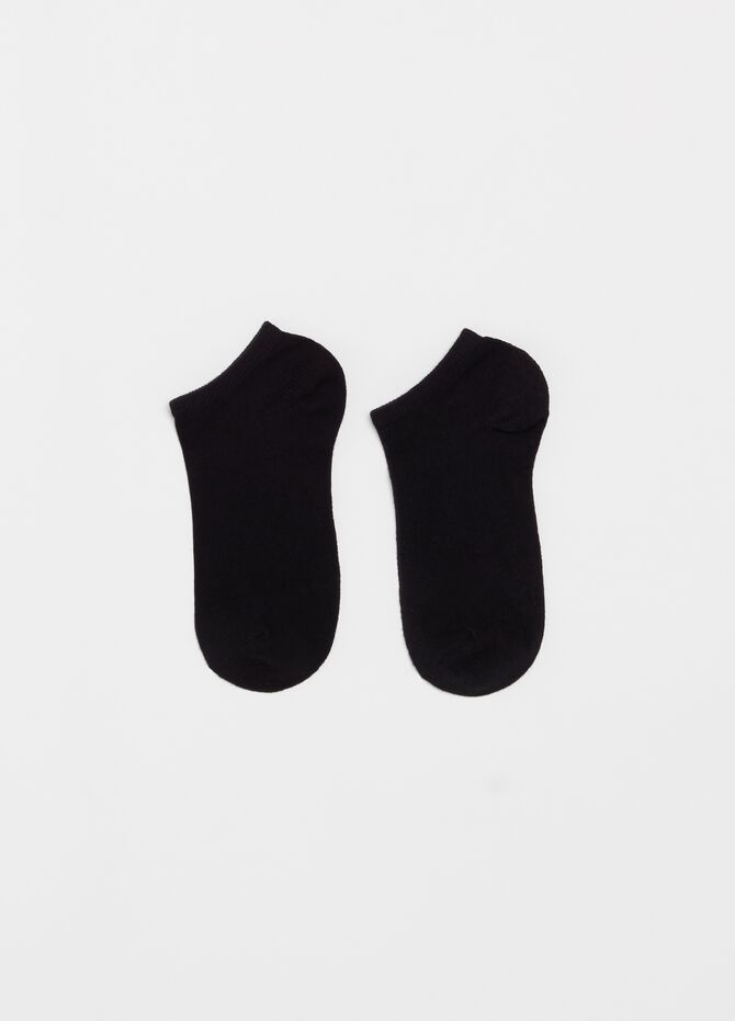 Five-pair pack stretch ribbed ankle socks