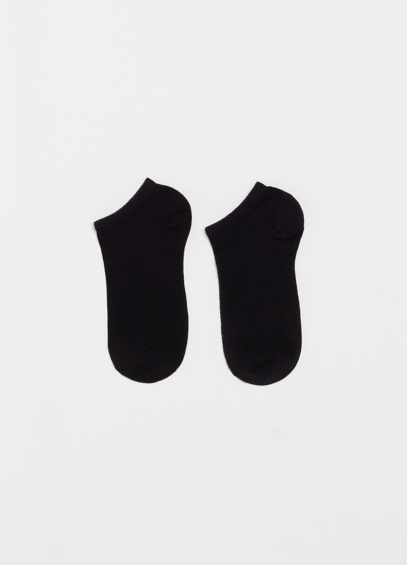 Five-pair pack stretch ribbed ankle socks image number null