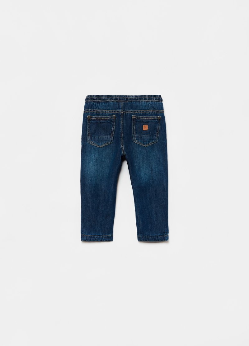 Five-pocket jeans with drawstring image number null