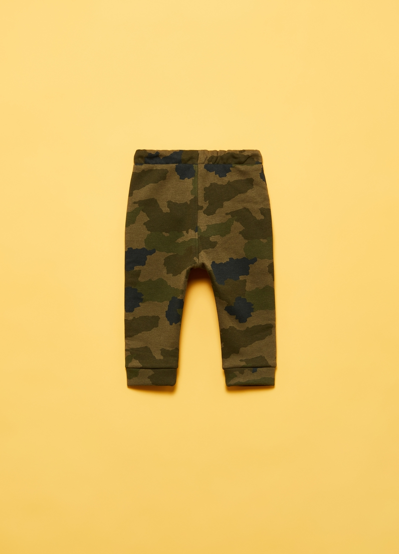 Joggers stampa camouflage all-over image number null