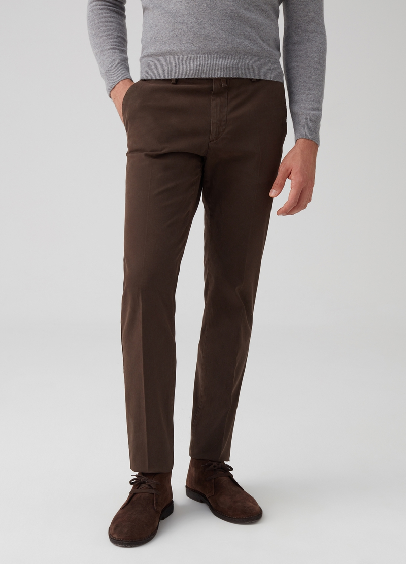 Rumford stretch tricotine trousers image number null
