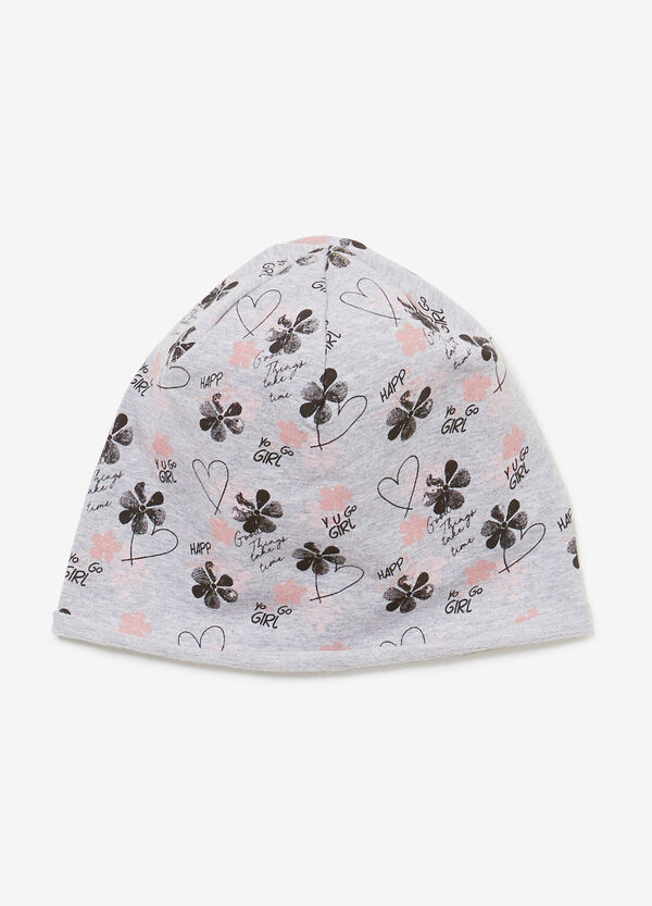 Patterned beanie cap