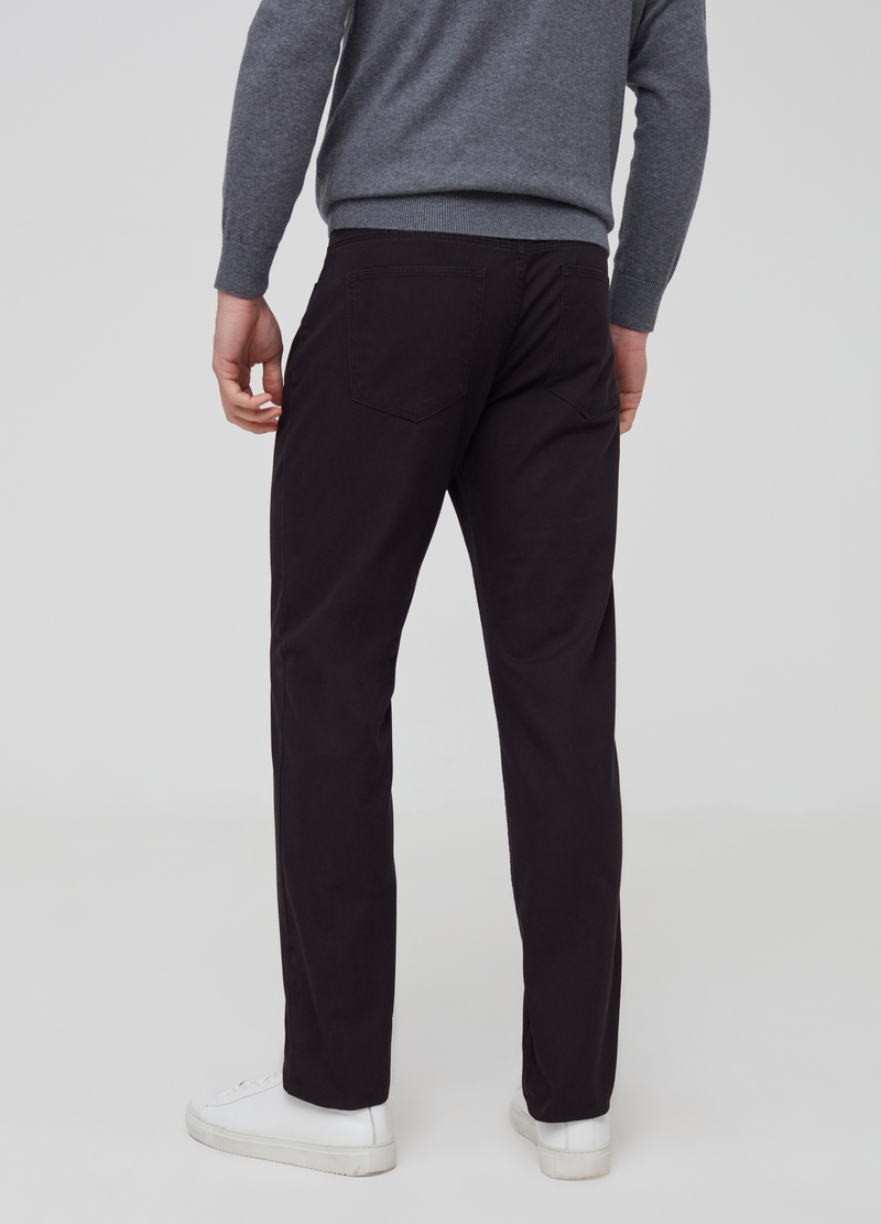 Pantaloni regular fit in puro cotone image number null
