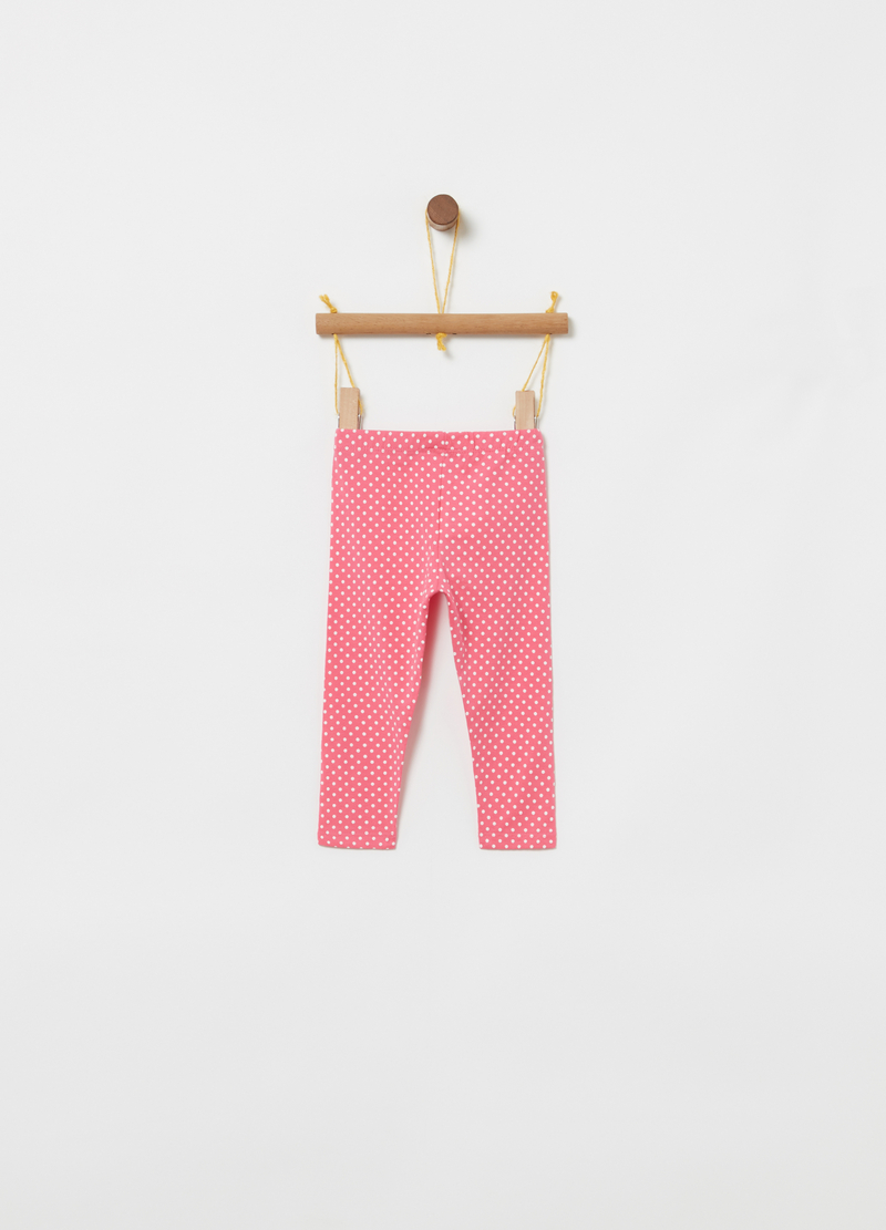Leggings cotone organico a pois image number null