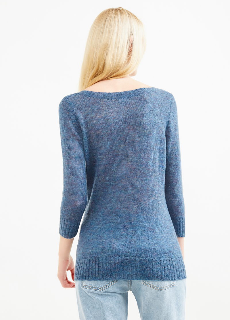 Pullover viscosa e lana mohair tricot image number null