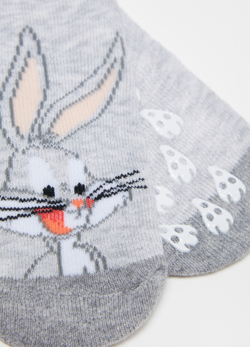 Two-pair pack Bugs Bunny slipper socks image number null