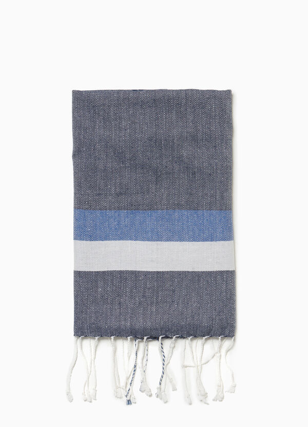 100% viscose pashmina with striped insert