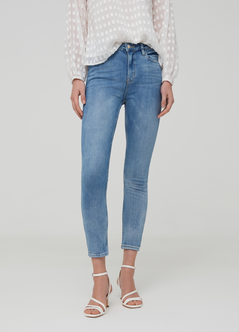 Jeans skinny fit crop cinque tasche image number null