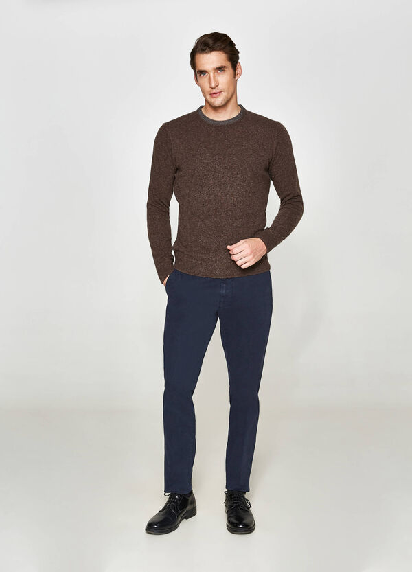 Rumford wool blend pullover with round neck