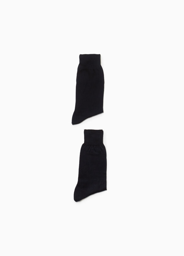 Two-pair pack 100% cotton socks